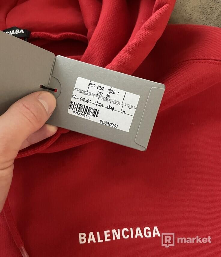 Balenciaga red hoodie