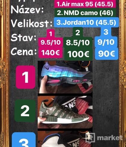 Adidas nmd nike Air max 95 jordan 10