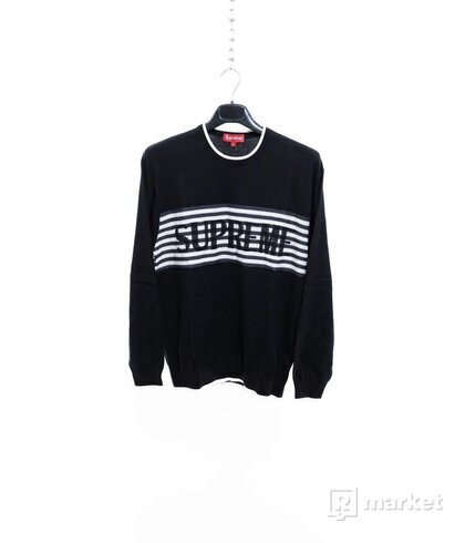 Supreme Chest Stripe Sweater