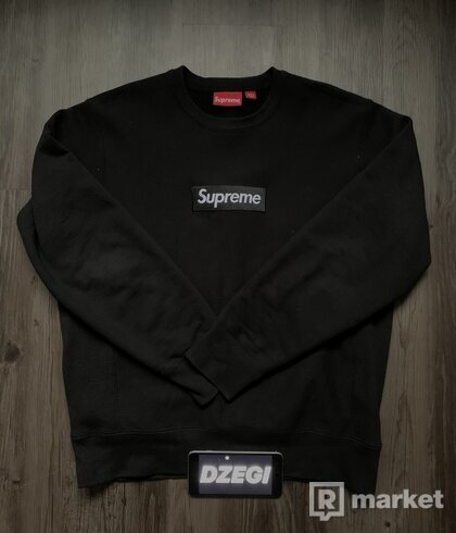 Supreme Box Logo Crewneck Black
