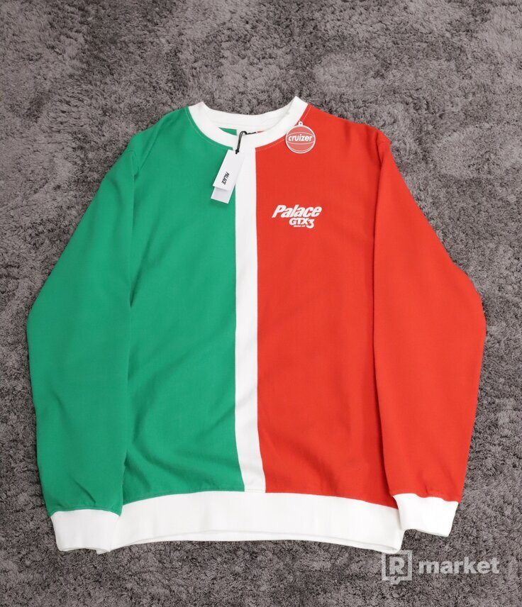 Palace GTX Splitter Crewneck Green