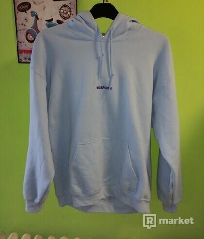 Traplife modra hoodie size L +Traplife bag