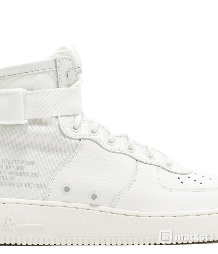Nike SF Air Force 1 Mid Triple Ivory