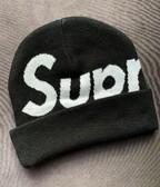 Supreme Big Logo Beanie (čierna)