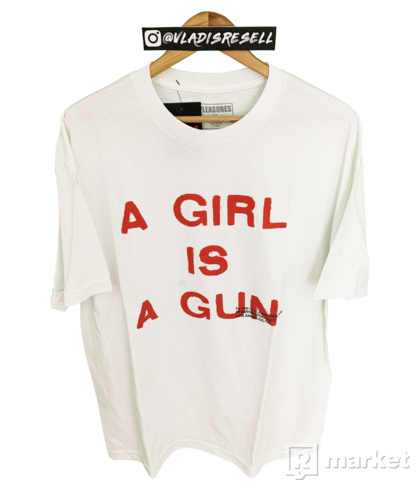 Pleasures A Girl Is A Gun Tee White