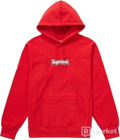 Supreme box logo bandana hoodie
