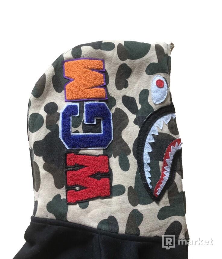 Bape Shark Hoodie Half Camo