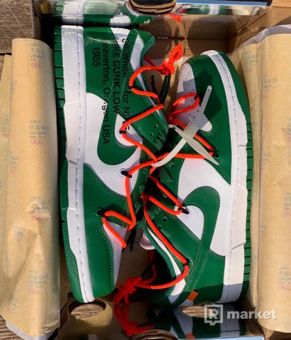 Nike Dunk low pine green Off White