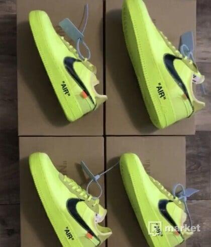 """Nike AF1 Off White """"Volt"""""""
