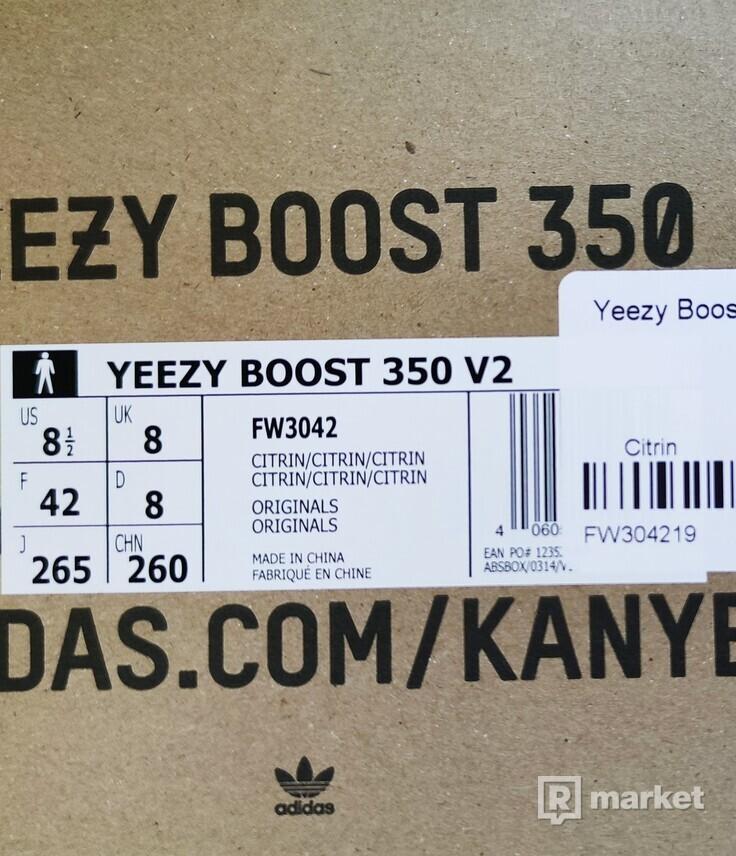 "Adidas Yeezy boost 350 ""Citrin"""