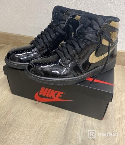 Jordan 1 High Black Metallic Gold
