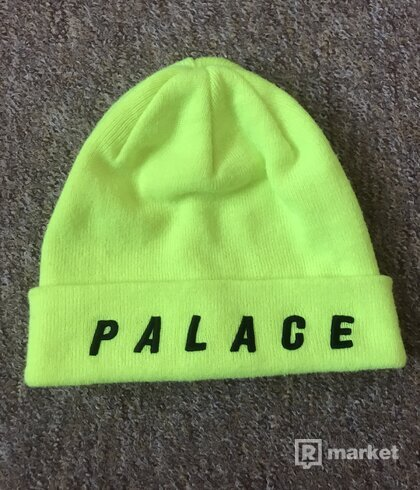 Palace Beanie Fluro Yellow