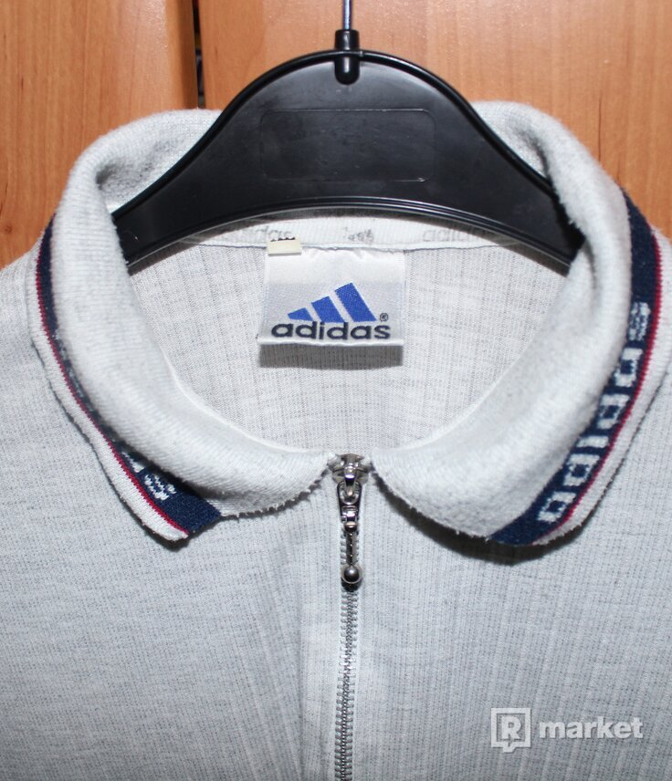 Vintage Adidas zip up polo shirt