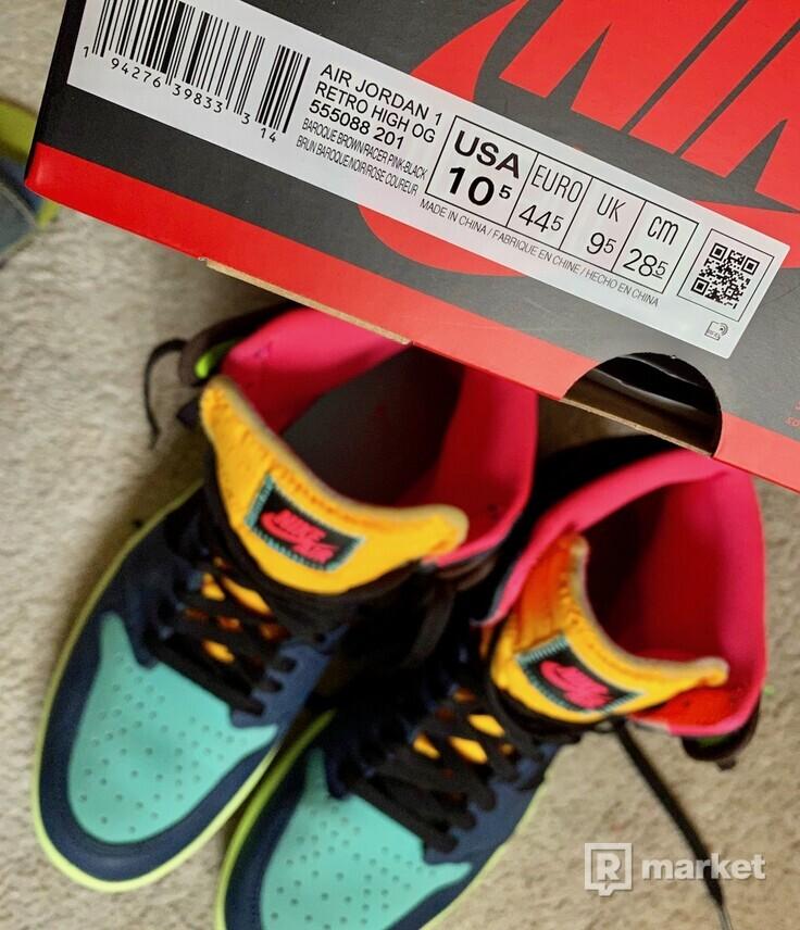 Air Jordan 1 Retro High Tokyo Bio Hack, veľk.US10,5/EU44,5