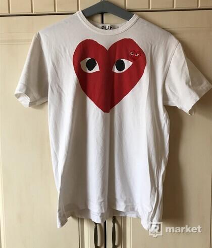 COMME DES GARÇONS PLAY BIG HEART TEE