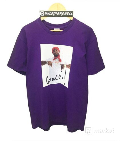Supreme Gucci Mane Photo Tee Purple XL