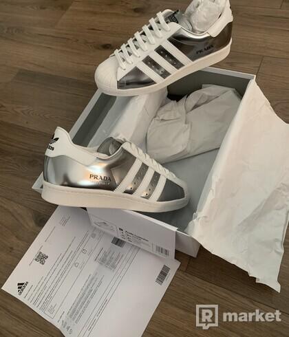 Adidas x Prada Superstar Silver