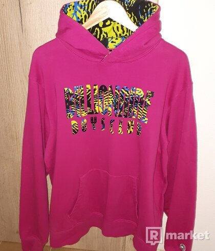 BILLIONAIRE BOYS CLUB FISH CAMO HOODIE PINK