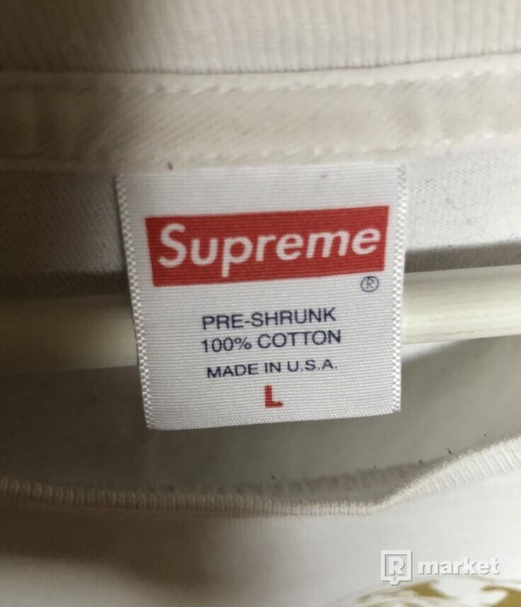 Supreme Eternal Tee White & Gold Short Sleeve Tee