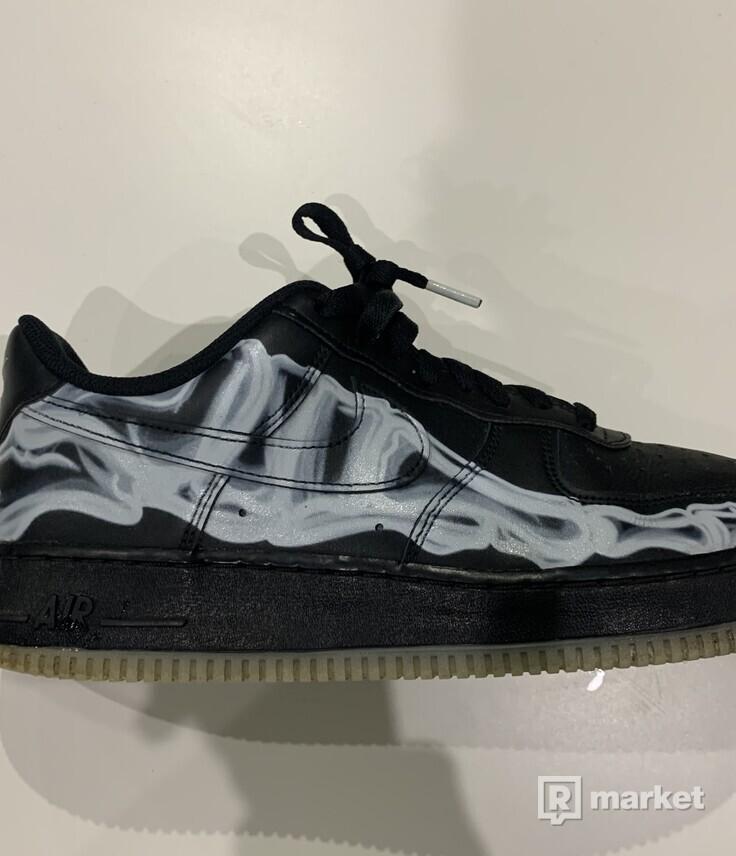 Nike Air Force 1 Skeleton Black
