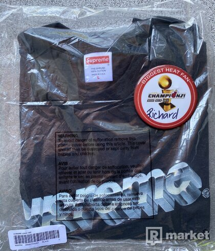 Supreme Chrome Tee black L