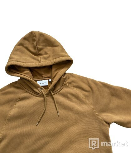 Mikina Carhartt Hooded Chase - Hnedá