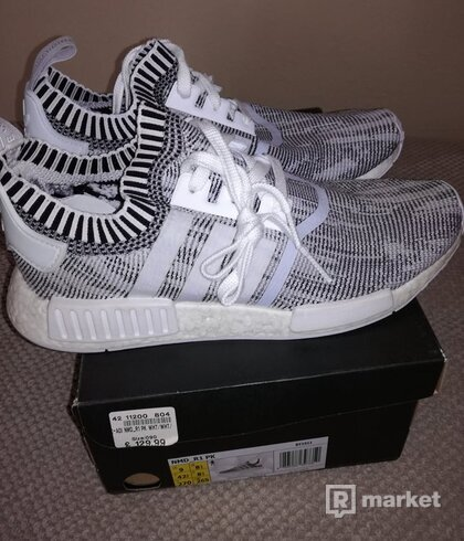 Adidas NMD_R1 PK White BY1911 , US 9 , UK 8 1/2