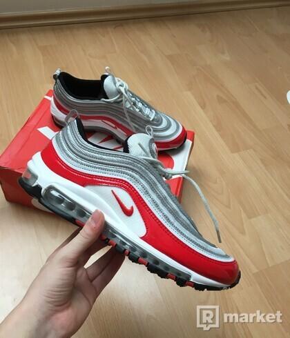 Nike Air Max 97 Pure Platinum University Red