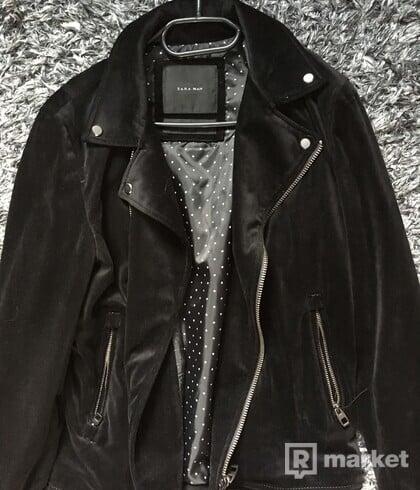 Zara velvet biker jacket