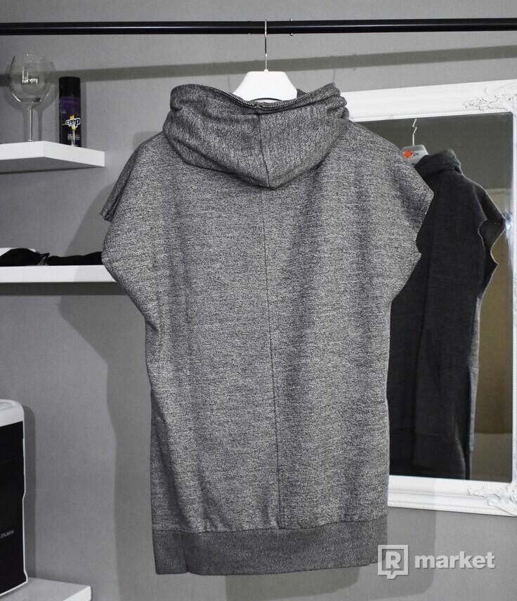 FAVELA Clothing Sleeveless Hoodie Grey