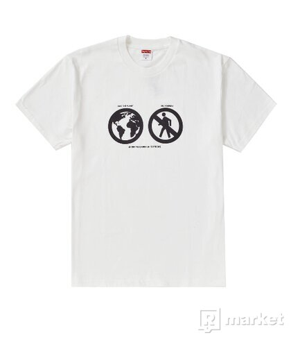 Supreme Save The Planet Tee White