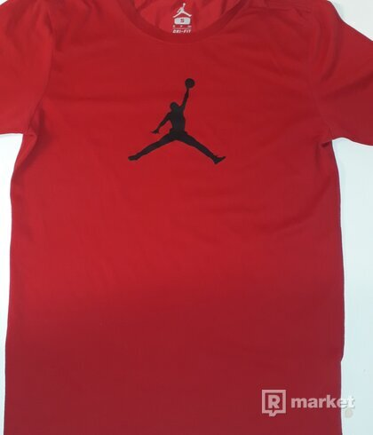 NIKE AIR JORDAN ICONIC JUMPMAN LOGO T SHIRT RED