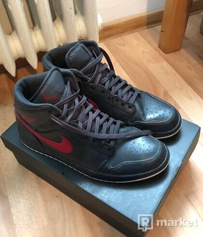 Air Jordan 1 Mid Anthracite/Gym Red