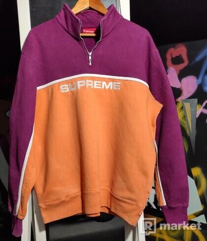 Supreme 2-Tone Half Zip Sweatshirt