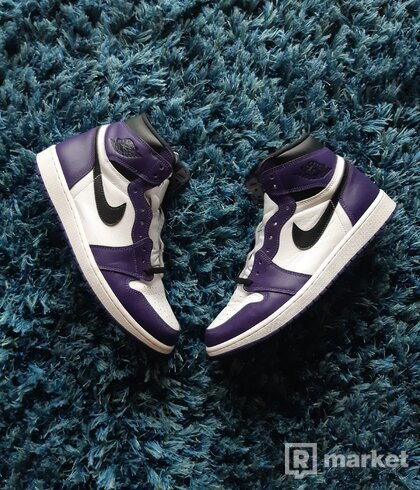 Air Jordan 1 high court purple