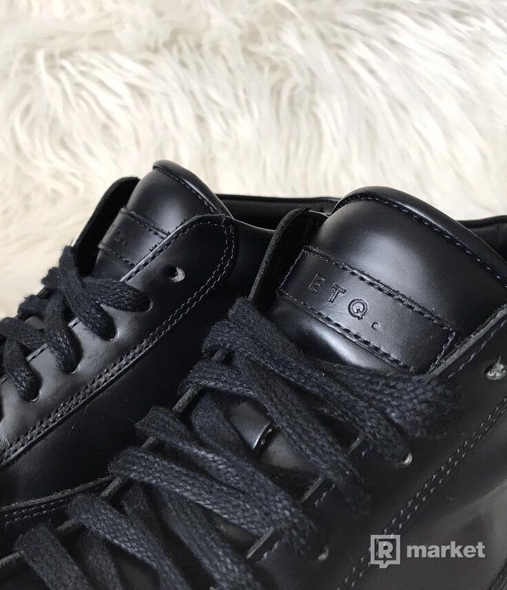 ETQ. Amsterdam LT 01 Mid hand-made leather sneakers/Black/Navy Blue