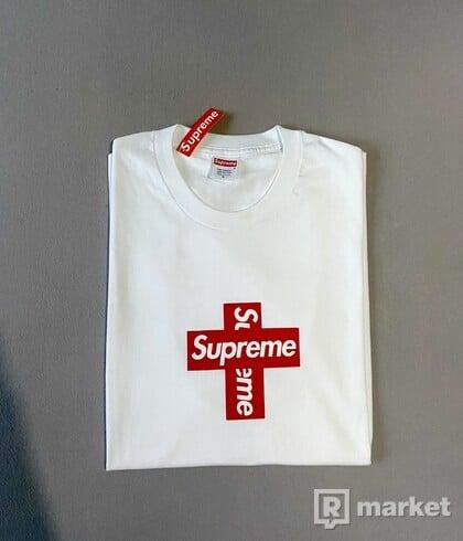 Supreme Cross Box Logo Tee White