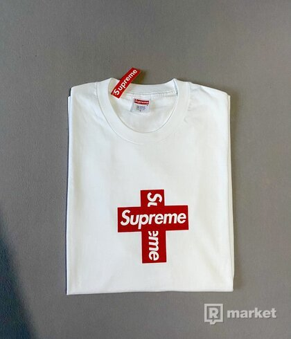 Supreme Cross Box Logo Tee White