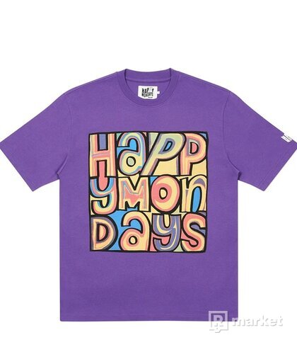 PALACE HAPPY MONDAYS COVER T-SHIRT PURPLE