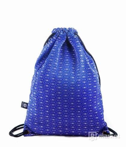 Modrý vzorovaný brokátový batoh VINITHA  10