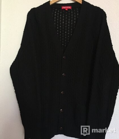 Supreme Cable Knit Cardigan