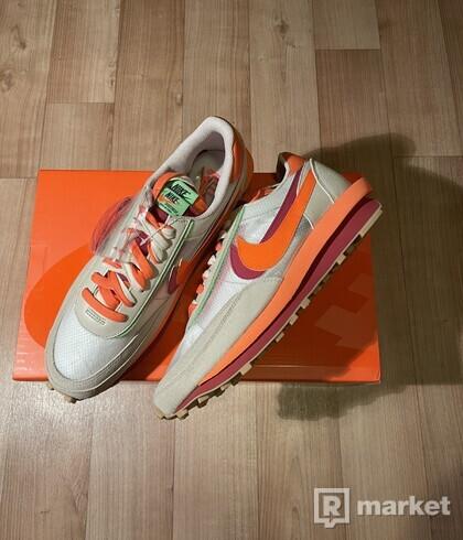 Nike LD Waffle sacai CLOT Net Orange Blaze 47.5