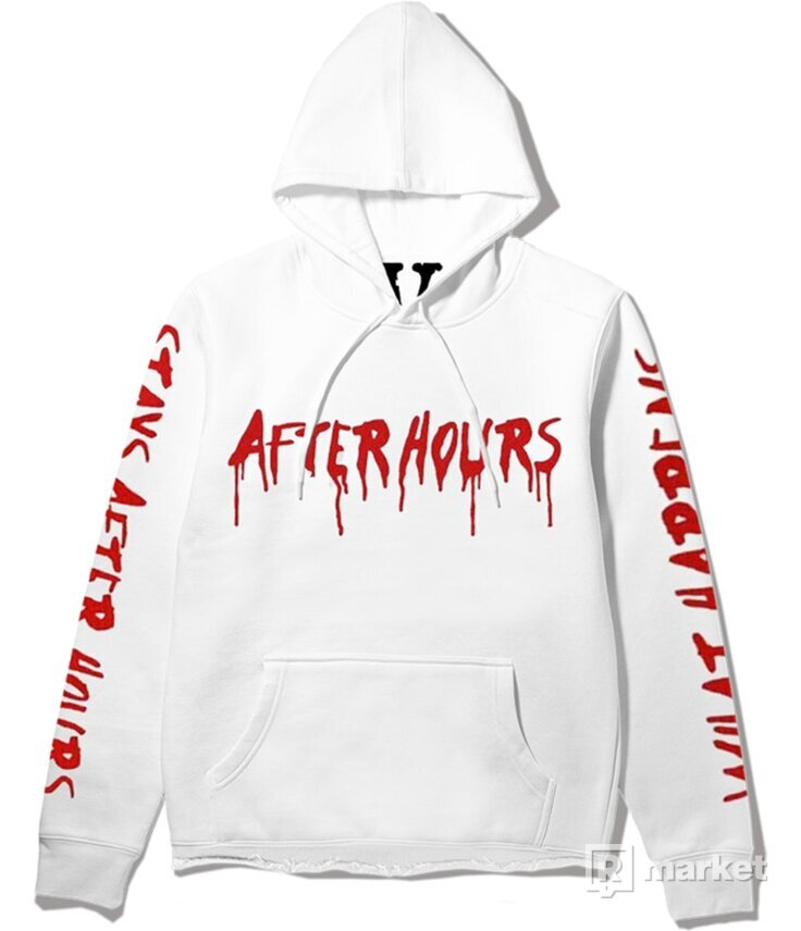 The Weeknd x Vlone What Happens After Hours Pullover Hood White