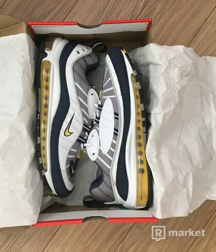 Nike Air Max 98 OG Tour Yellow Navy White - US 9,5