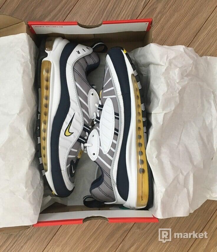 Nike Air Max 98 OG Tour Yellow Navy White - US 9,5