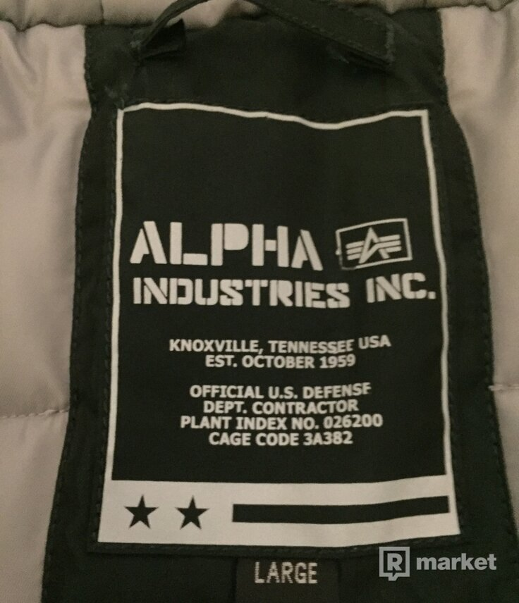Pánska bunda Alpha Industries N3-B R dark petrol