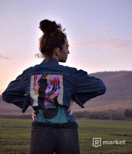 Umenie ženy - rifľová bunda