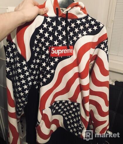 SUPREME USA FLAG BOX LOGO HOODIE