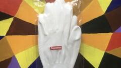 Supreme rubberized gloves + sticker