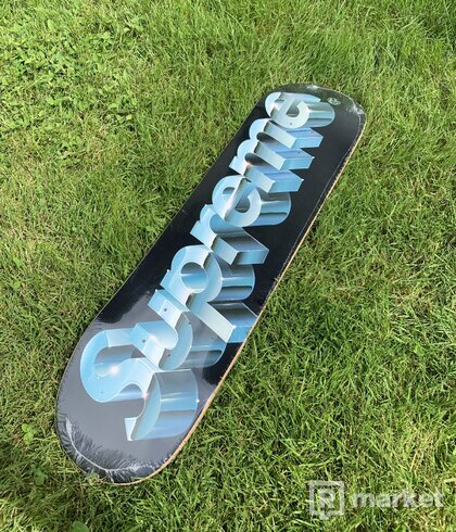 Supreme Chrome Logo Skateboard Deck